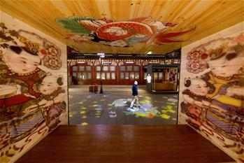 天津:古鎮楊柳青年畫燈光秀