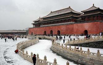 雪落紫禁城