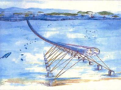 悬浮着的水中交通隧道——阿基米德桥