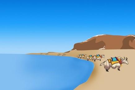 """纳木错:西藏的""""天湖"""""""