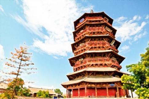 我国古建筑的瑰宝——应县木塔