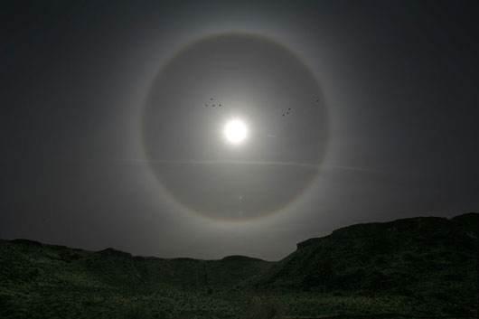 蓝奇奇说科普——太阳和月亮周围的光环是怎么来的?