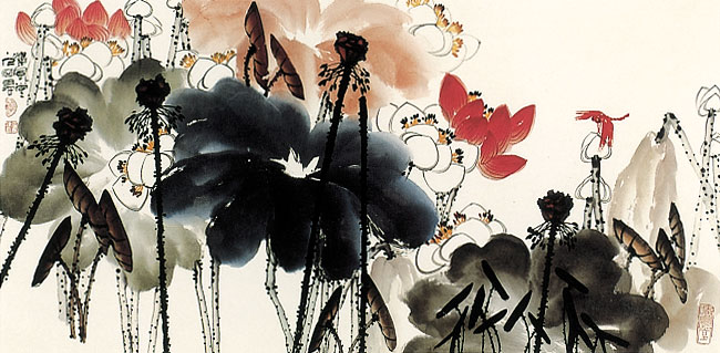 石愚书画 - 大浪滔天 - 长江美术工作室