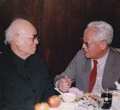 曾濤(右)與李可染