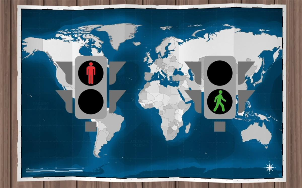 联合国确定了红灯停、绿灯行的规则