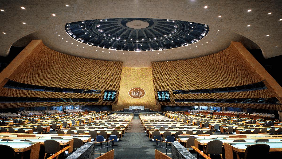 纽约联合国总部联大会议厅
