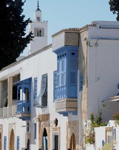 """""""سيدي بوسعيد"""" مدينة تاريخية يقصدها السائحون في تونس"""