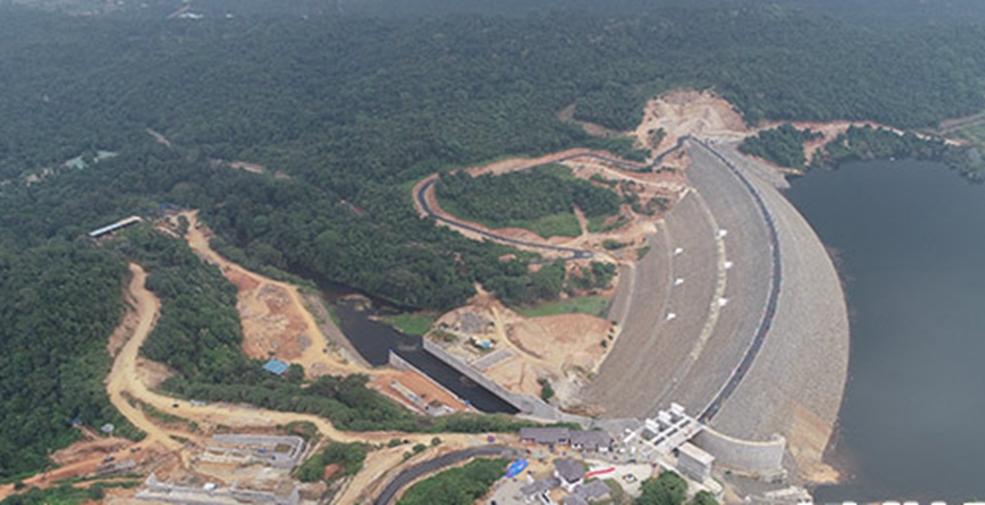 中企承建斯裏蘭卡卡盧河大壩項目主體工程完工