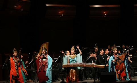 """Xuanzang's Pilgrimage"" concert held at New Jersey Performing Arts Center in U.S."