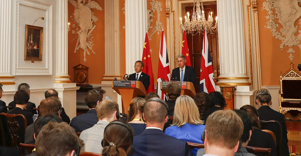 China, UK pledge more cooperation on BRI, support for multilateral trade system