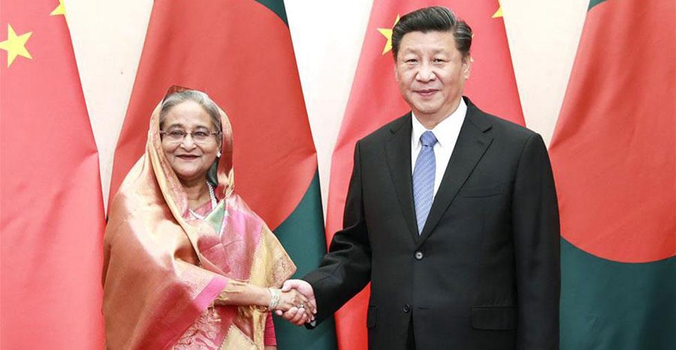 Chinese president meets Bangladeshi PM