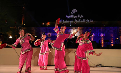 Feature: China's Gaojia Opera performance wows Egyptian audience at int'l music festival