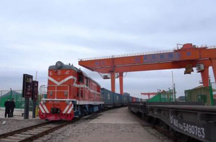 Europe-bound freight trains from China's Yiwu increase by 151 pct in H1