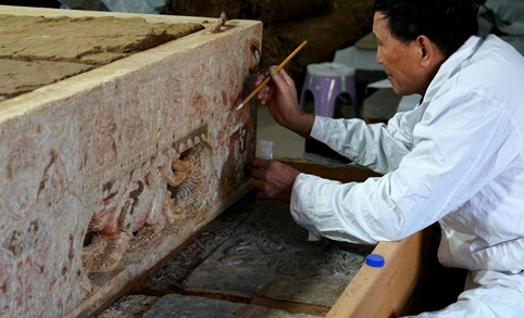 Across China: 1,400-yr-old tomb with white marble bed reveals religious exchanges on Silk Road