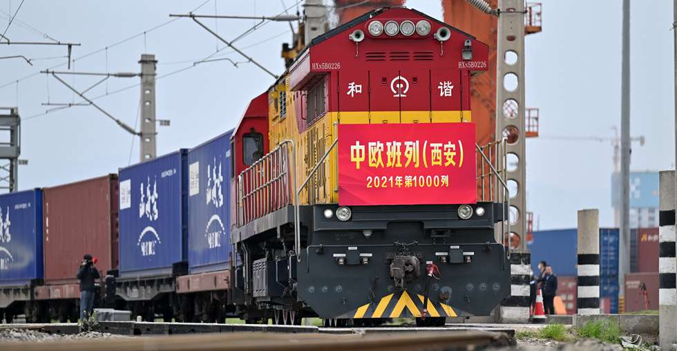 Xi'an sees 1,000 China-Europe freight train trips this year