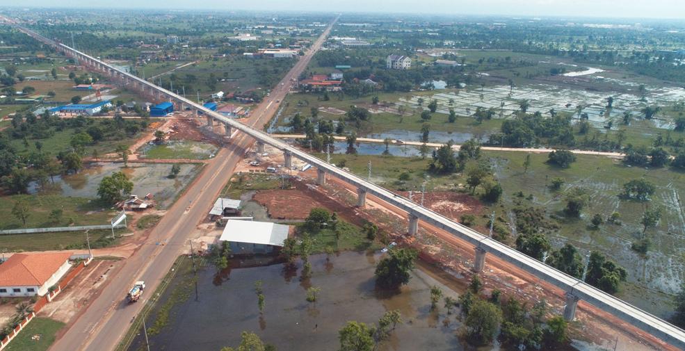 中老鐵路最長橋梁主體施工完成