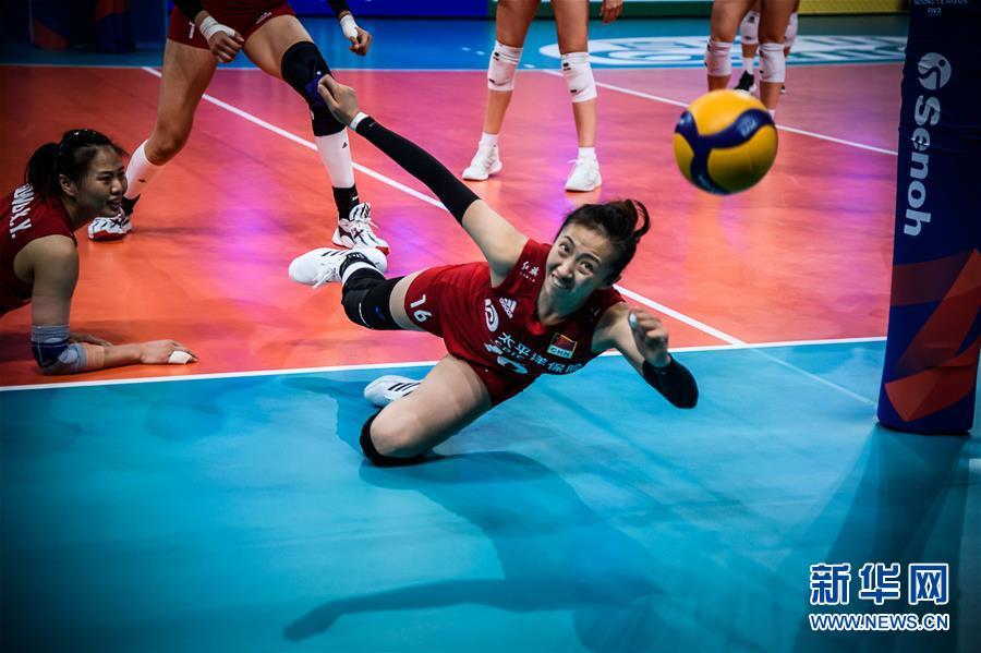 (体育)(1)排球——世界女排联赛:中国队战胜意大利队