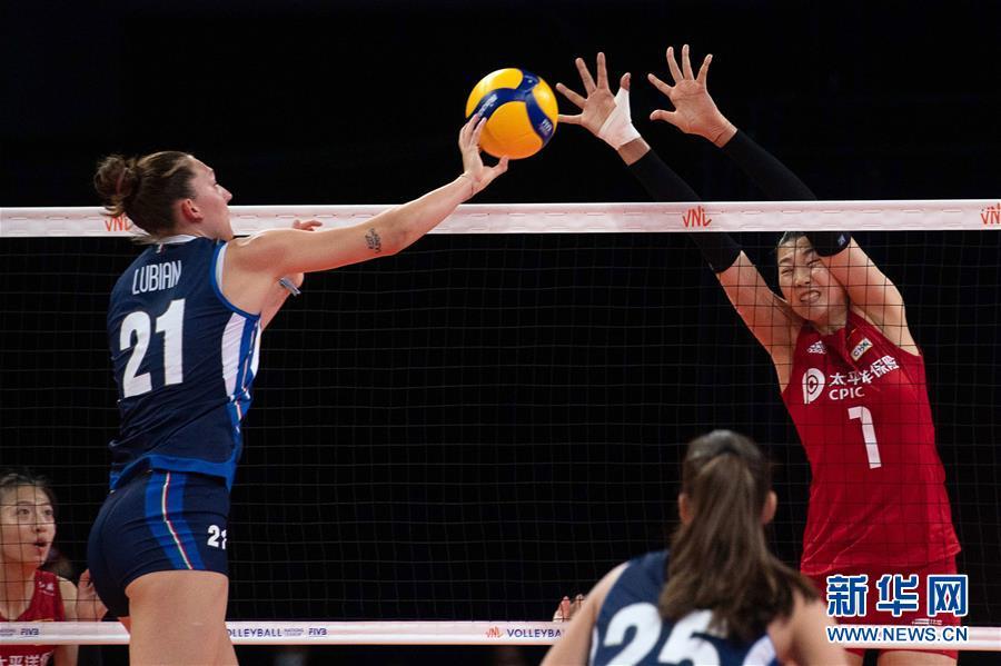 (体育)(3)排球——世界女排联赛:中国队战胜意大利队