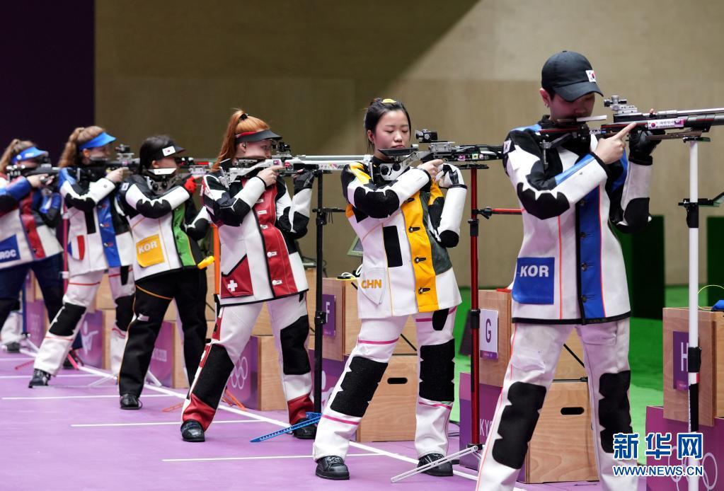女子射击10米气步枪决赛赛况