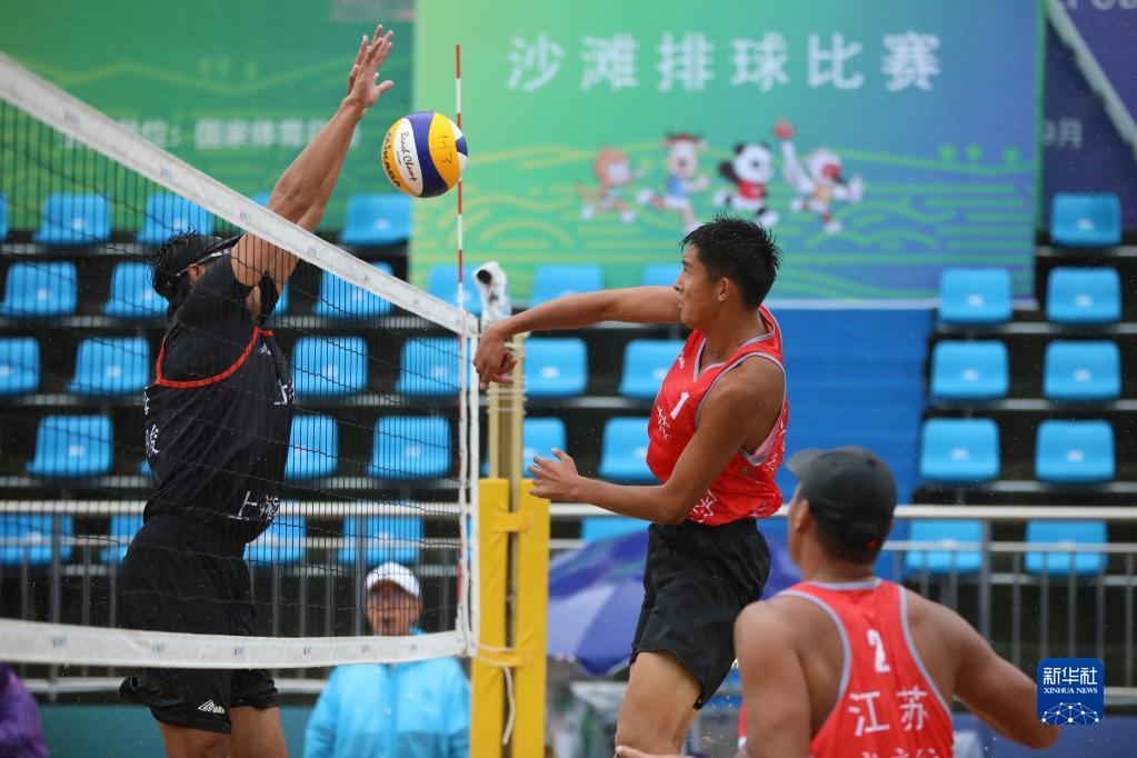 全运会-沙滩排球男子成年组小组赛:上海二队胜江苏三队-新华网体育