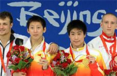 林跃火亮获北京奥运会男子双人十米跳台金牌