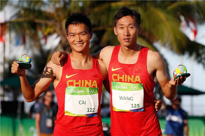 男子20公里竞走:王镇、蔡择林包揽金银牌