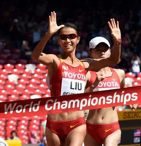 女子20公里竞走:刘虹摘金