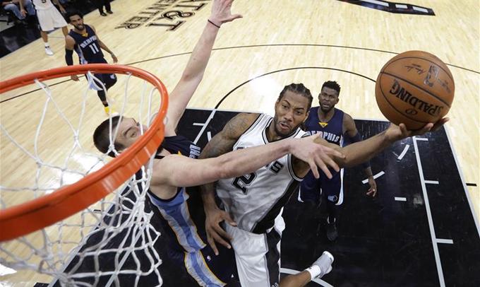 NBA季後賽:馬刺勝灰熊