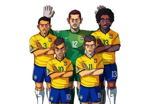 巴西世界杯16强漫画