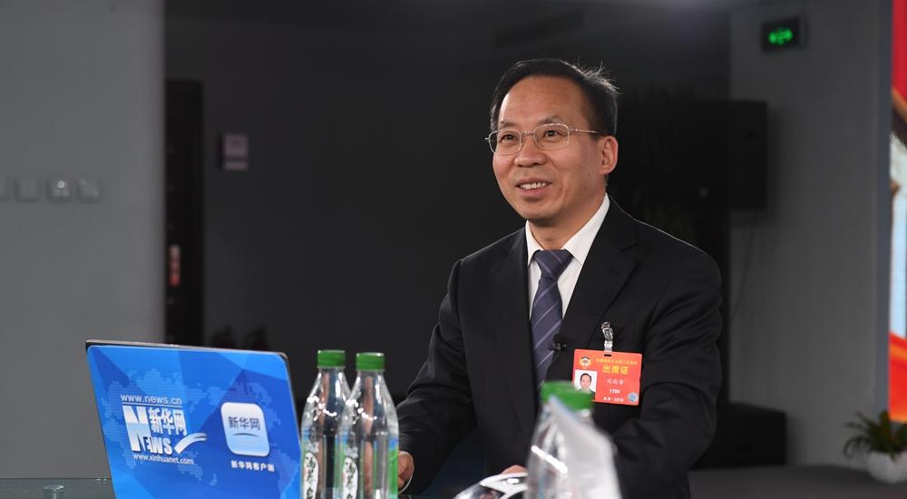兩會期間劉尚希做客新華網解讀政府工作報告