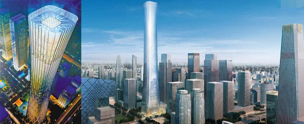 摩天大楼超大地下室钢结构