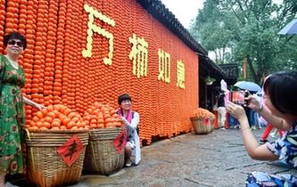 杭州:西溪火柿映秋波