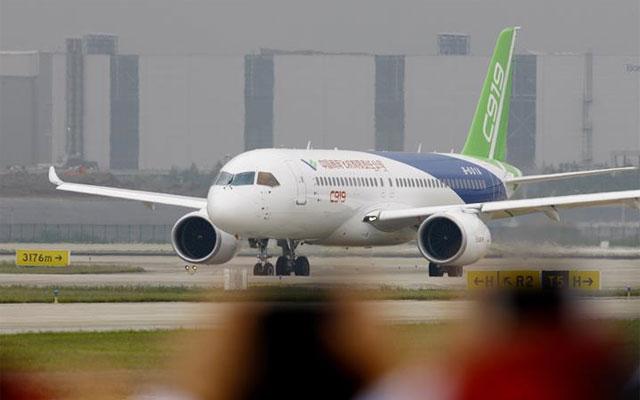 中國首款國際主流水準的幹線客機C919