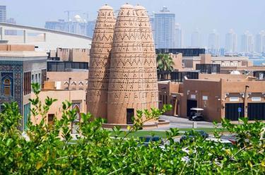 綠色與現代感相結合的卡塔爾建築