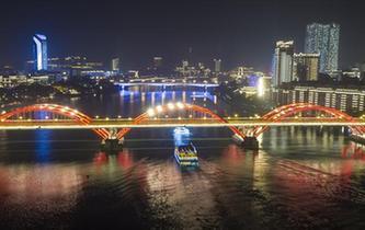 廣西柳州:柳江夜景美