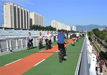 北京首條自行車專用路開通