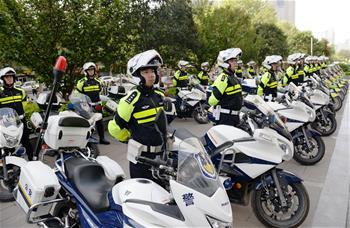 西安公安成立交警鐵騎隊
