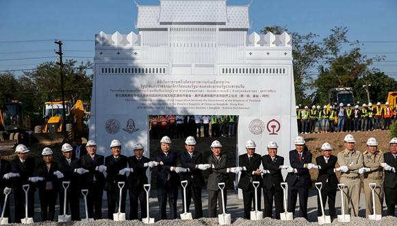 中泰鐵路合作項目一期工程開工