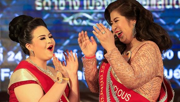 """泰國舉辦""""巨型小姐""""選美比賽 大碼妹子以胖為美"""