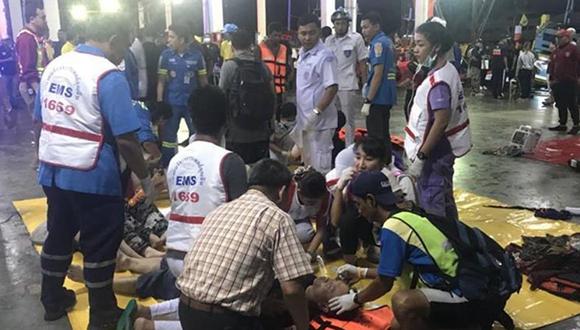 中國駐泰國使領館全力處置普吉遊船傾覆事故