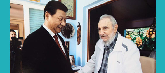 Chinese president visits Cuban revolutionary leader Fidel Castro