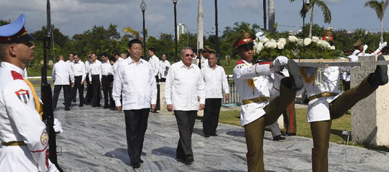 Chinese president visits Cuba's Heroic City