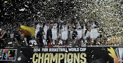 美國隊奪得籃球世界杯冠軍