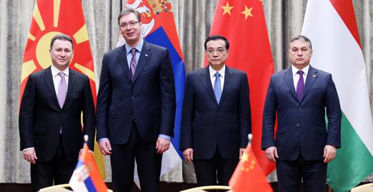 李克強會見塞爾維亞、匈牙利、馬其頓總理
