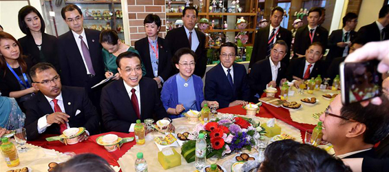Chinese premier visits in Malacca, Malaysia