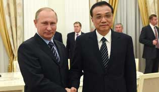 Chinese premier, Russian president meet on promoting China-Russia ties