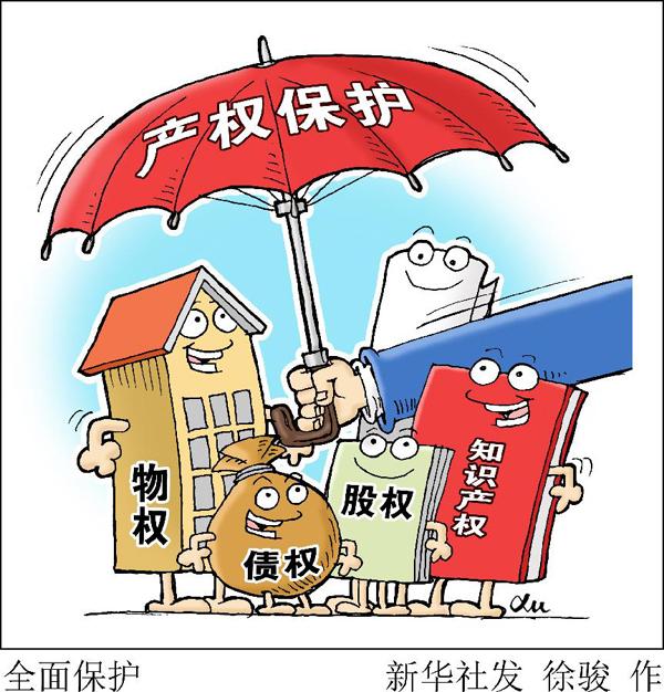 八、出台完善产权保护制度依法保护产权的意见