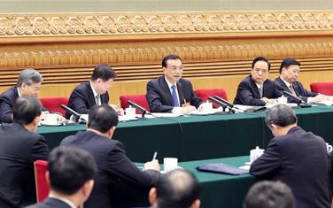 李克強參加山東代表團審議
