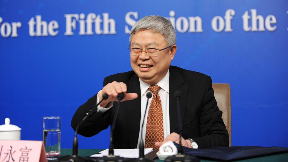 劉永富回答記者提問