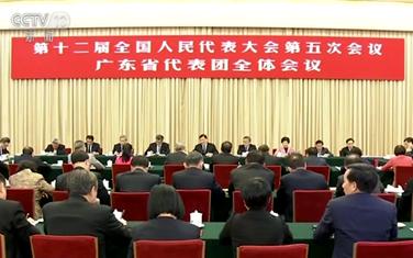 劉雲山參加廣東代表團審議